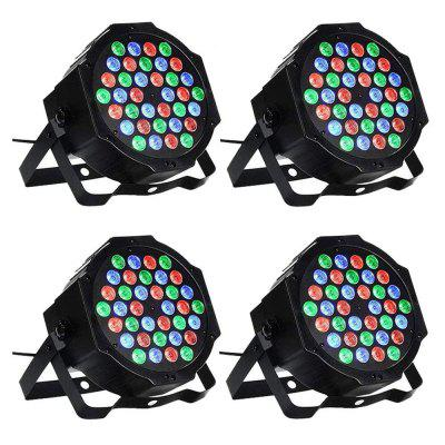 4 PCS 36W RGB Par Light DMX Control pro svatební DJ Home Party Church Stage Light