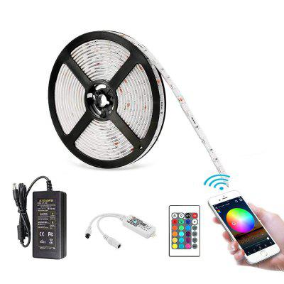 5M Waterproof WiFi Intelligent Remote Dimmen 300x5050 RGB SMD LED met Power