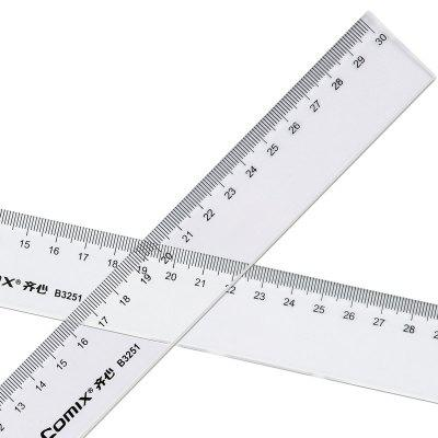 Comix B3251 Accurate Scale Ruler 30CM Transparent