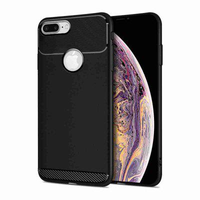 Armor Carbon Fiber Solid Color Telefon tok iPhone 7 Plus / 8 Plus