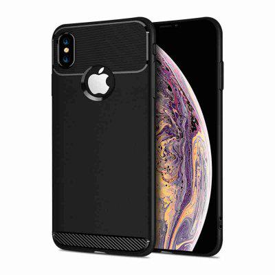 Armor Carbon Fiber Solid Color Phone Case for iPhone X/XS