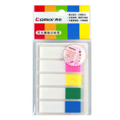 Comix D6018 Easy Sticker With Fluorescent File 5COLORS/SET