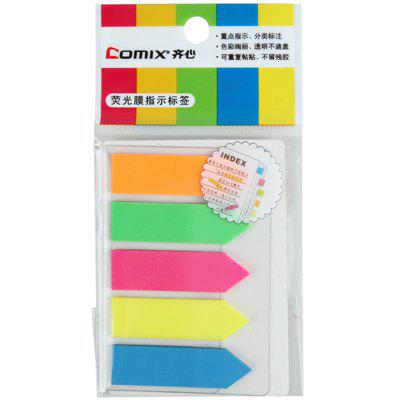 Comix D6019 Easy Sticker with Fluorescent File 5COLOR/SET
