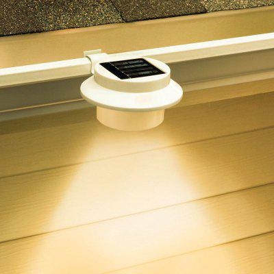 Outdoor LED Gutter Lights Solar Powered for Fence Roof Gutter Garden Yard Wall