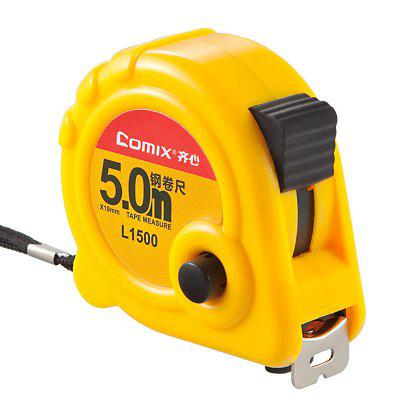 Comix L1500 Steel Tape Measure 5M Yellow