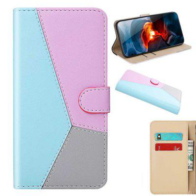 Three-Color Stitching PU Phone Case for Xiaomi Mi CC9e / Mi A3