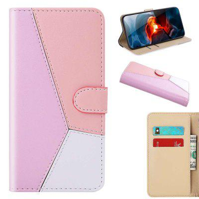 Three-Color Stitching PU Phone Case for Xiaomi Mi CC9 / Mi A3 Lite