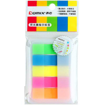 Comix D6017 Sticky Note With Fluorescent File 5 Colors 100SHEETS