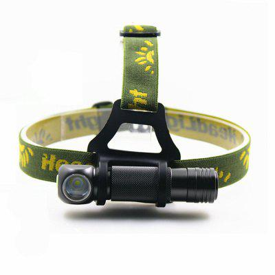 H6 XHP V6 4Modes Dimming Multi-function Portable Headlamp + LED Flashlight