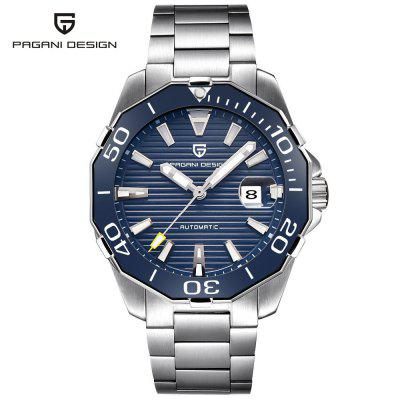 PAGANI 1617 Men'S Stylish Multifunctional Waterproof Steel Band Mechanical Watch