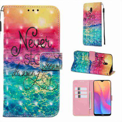 Golden Butterfly 3D Painted PU Phone Case for Xiaomi Redmi 8A
