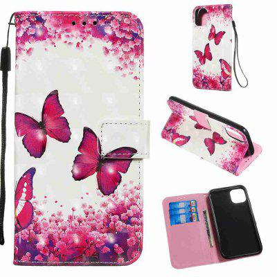 Golden Butterfly 3D Painted PU Phone Case for Iphone 11