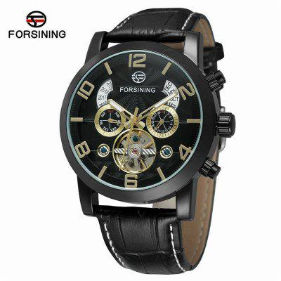 Forsining F165 Men's Fashion Casual Large Dial Tourbillon Fully Automatic Watch