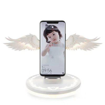 Nizza portatile del supporto leggero caricabatterie wireless Angel Wings LED per IPhone X