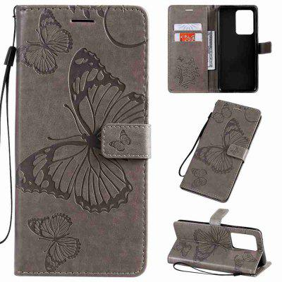 Butterfly Embossing PU Phone Case for Samsung Galaxy S20 ULTRA