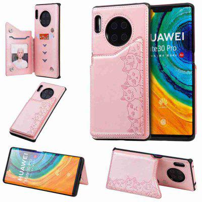 Six Cats Fall Resistant PU Phone Case for Huawei Mate 30 Pro
