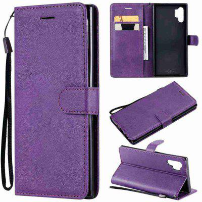 Solid Color PU Phone Case for Samsung Galaxy Note10 Pro