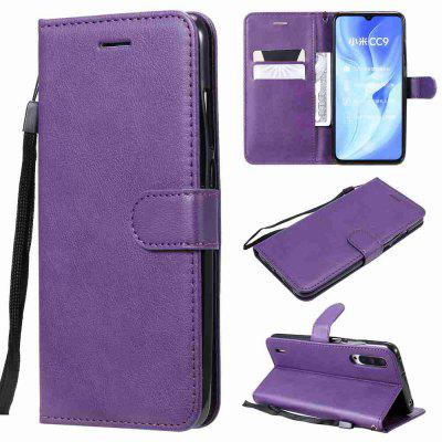 Solid Color PU Phone Case for Xiaomi Mi CC9