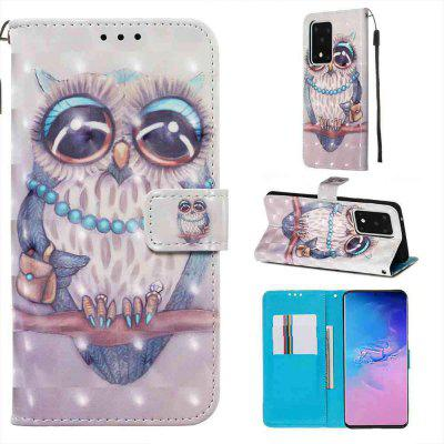 Multi-Pattern 3D Painted PU Phone Case for Samsung Galaxy S20 Plus