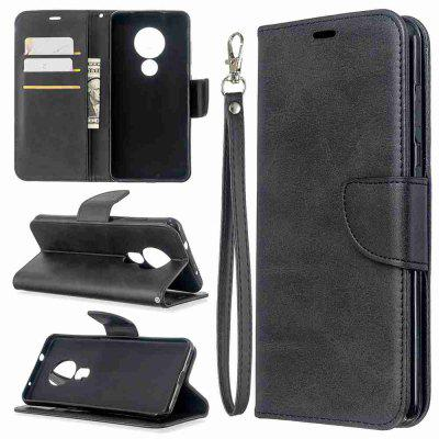 Solid Color Lambskin PU Phone Case for Nokia 6.2 / Nokia 7.2