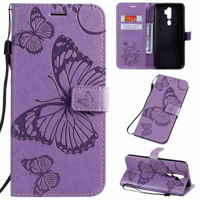Butterfly Embossing PU Phone Case for OPPO A9 2020 / A5 2020