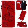 Butterfly Embossing PU Phone Case for OPPO A9 2020 / A5 2020 - RED