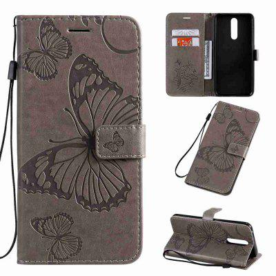 Butterfly Embossing PU Phone Case for OPPO F11