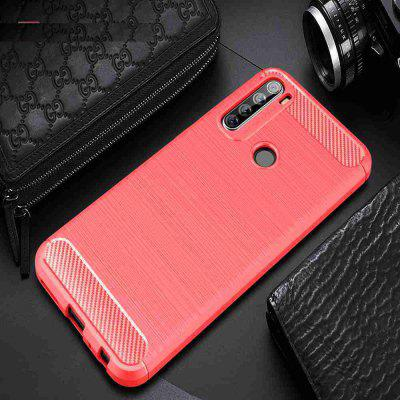 Brushed Pattern Carbon Fiber Solid Color Phone Case for Xiaomi Redmi Note 8T