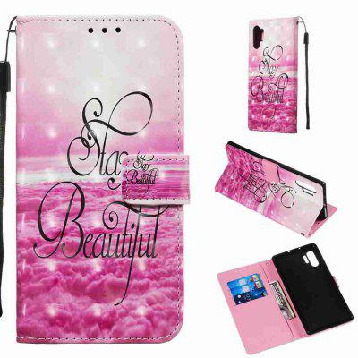 Golden Butterfly 3D Painted PU Phone Case for Samsung Galaxy Note 10 Pro