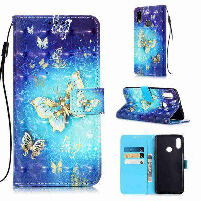 Golden Butterfly 3D Painted PU Phone Case for Samsung Galaxy A10S