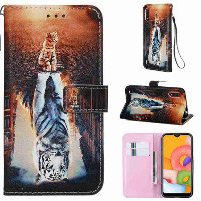 Stray Earth Painted PU Phone Case for Samsung Galaxy A01