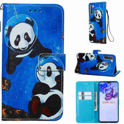 Stray Earth Painted PU Phone Case for Samsung Galaxy A21
