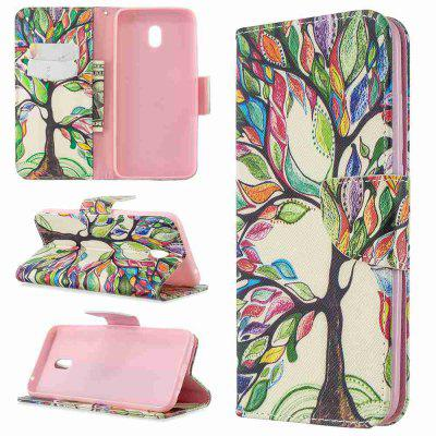 Two Butterflies Painted PU Phone Case for Xiaomi Redmi 8A
