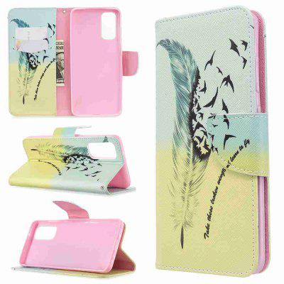 Two Butterflies Painted PU Phone Case for Samsung Galaxy S20