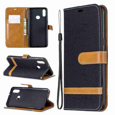 Solid Color Denim PU Phone Case for Samsung Galaxy A10S