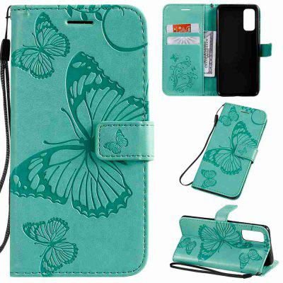 Butterfly Embossing PU Phone Case for Samsung Galaxy S20