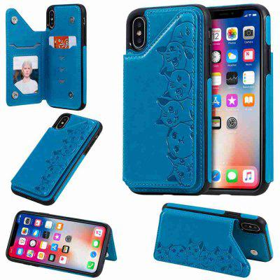 Six Cats Fall Resistant PU Phone Case for Iphone X / Xs