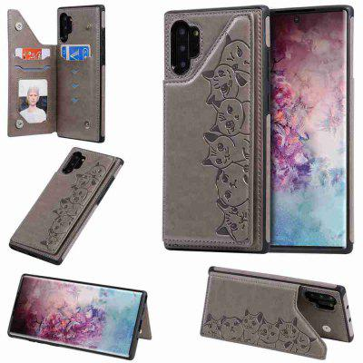 Six Cats Fall Resistant PU Phone Case for Samsung Galaxy Note10 Pro