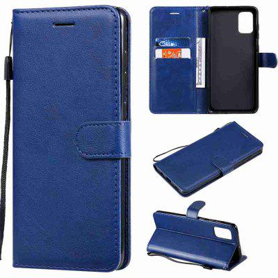 Solid Color PU Phone Case for Samsung Galaxy A71