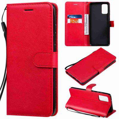 Solid Color PU Phone Case for Samsung Galaxy S20 Plus