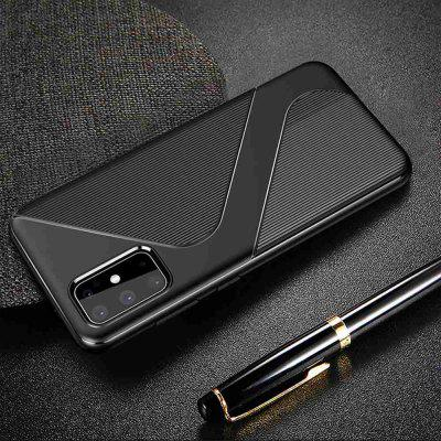 Brushed Pattern Carbon Fiber S Shape Phone Case for Samsung Galaxy S20  Plus