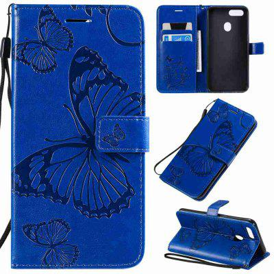 Butterfly Embossing PU Phone Case for OPPO A5 / A3S