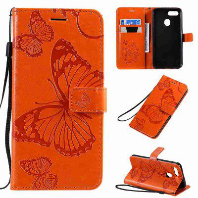 Butterfly Embossing PU Phone Case for OPPO A7 / A5S