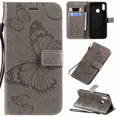 Butterfly Embossing PU Phone Case voor OPPO Realme 3