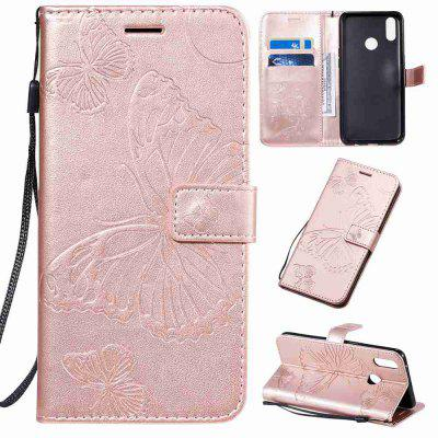Butterfly Embossing PU Phone Case voor OPPO Realme 3 Pro