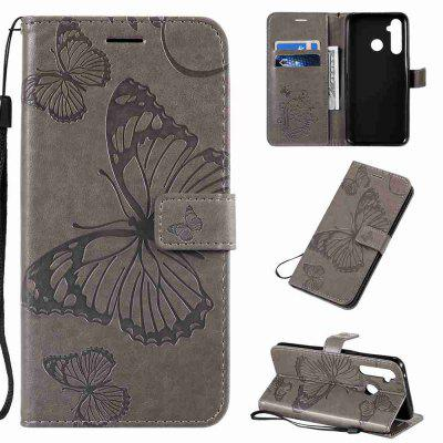 Butterfly Embossing PU Phone Case for OPPO Realme 5 Pro