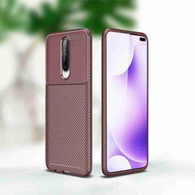 Carbon Fiber Solid Color Phone Case for Xiaomi Redmi K30