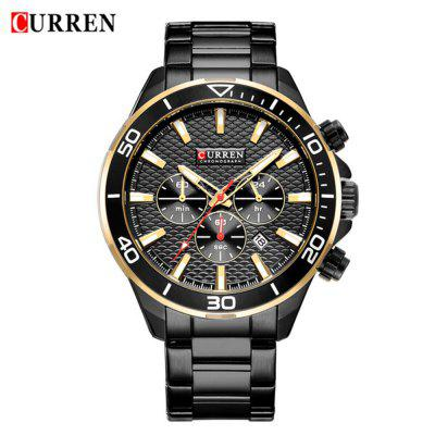 Curren 8309 Men'S Steel Band Small Dial Quartz Calendar Six Hands Watch