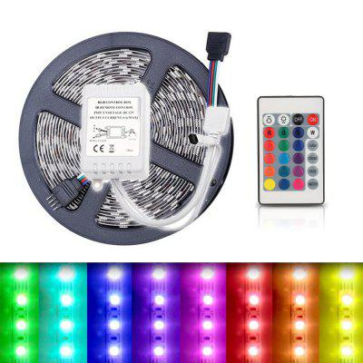 5M 5050 RGB 300 LED tiras flexibles de luz y IR 24key control remoto Linkable