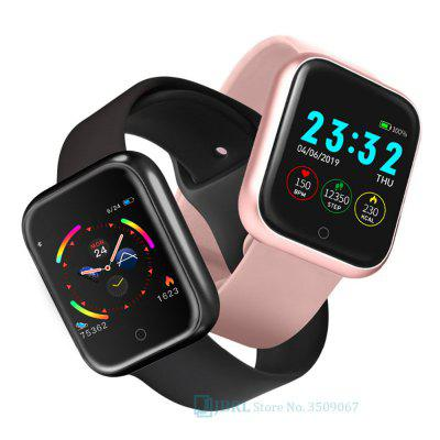 Waterdichte Y68 Smart horloge Vrouwen Smartwatch Polsbandjes Digital Clock HR / BP Rate